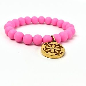 Rustic Cuff Catherine Pink/Gold RC Logo